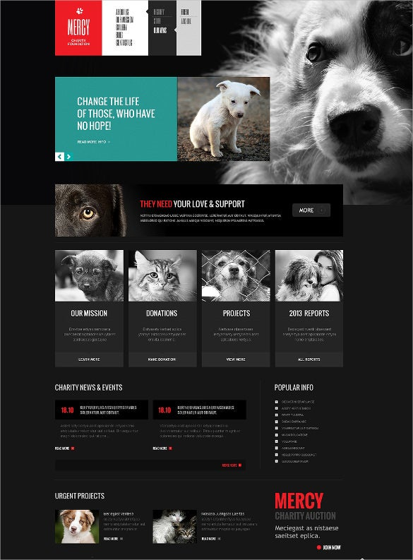 lovely animal pet joomla template