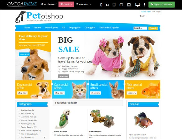 animal pet modern joomla template