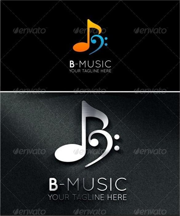 stylish letter b music logo download