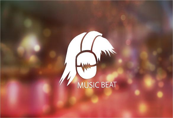 stunning music beat logo desin download