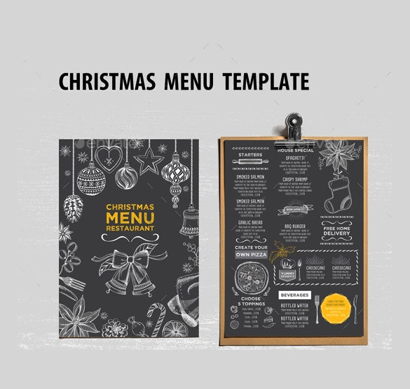 christmas holiday menu vector eps format restaurant template