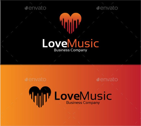 stunning love music logo download