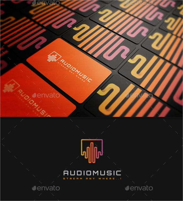 colourful audio music logo download