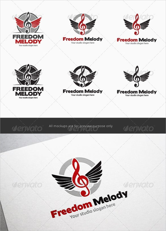 freedom wing music logo download