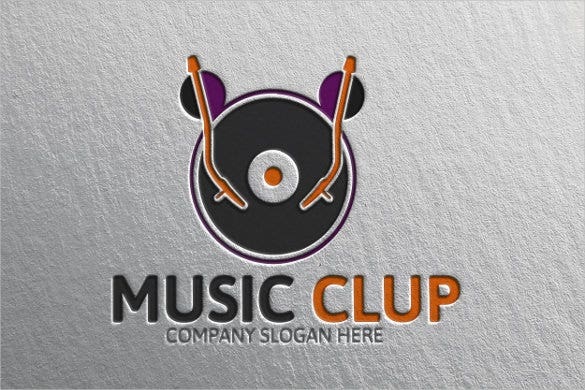 this music logo design template is creative and fun and can be used by different music brands and companies who would like an artistic logo to represent