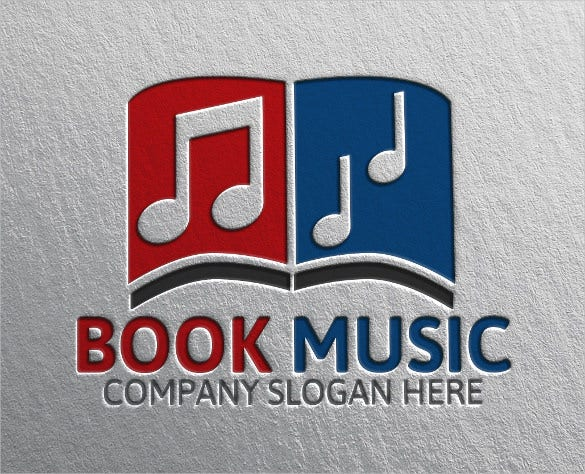 professional book music logo download
