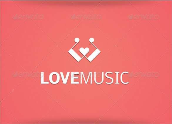 beautiful composer love music logo download