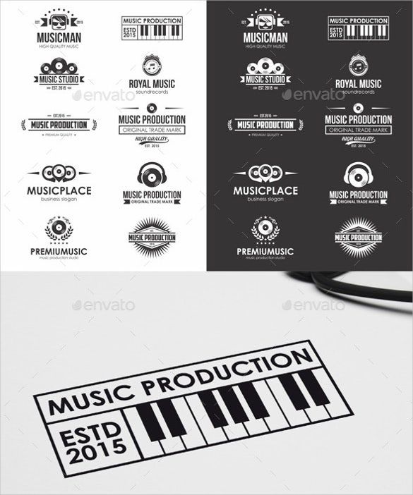awesome music logo badges labels download