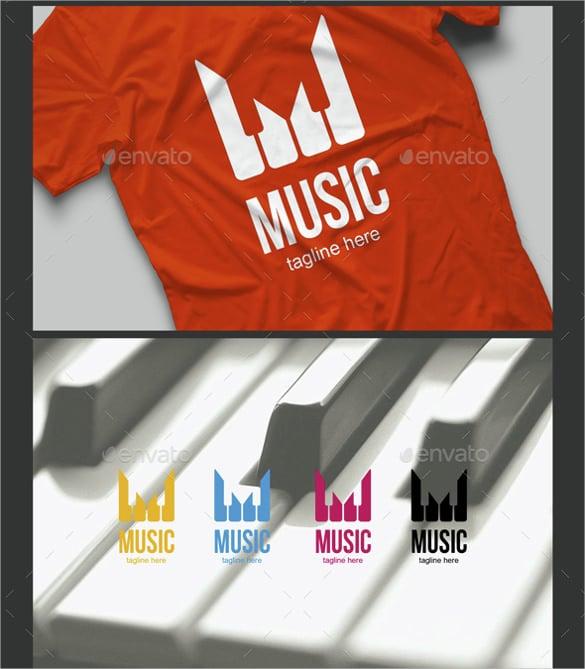 unique music logo template design