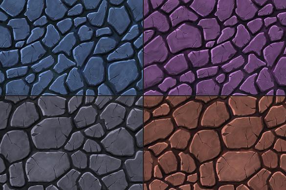 stone handpainted texture