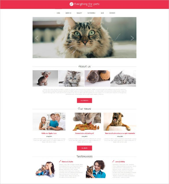 animal pet consulting drupal template