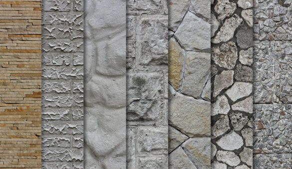 set of stone wall texture