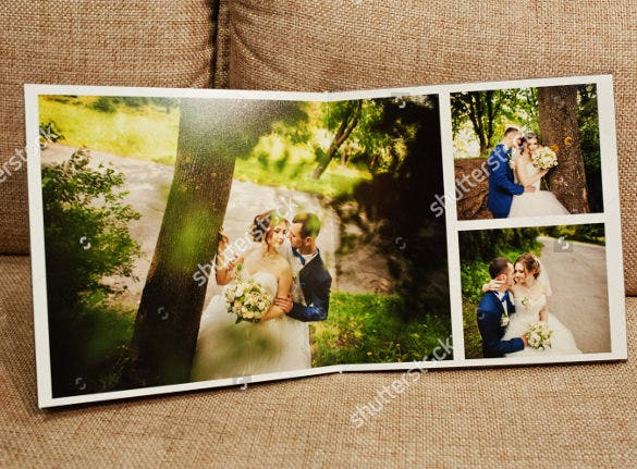 designed wedding album template for download