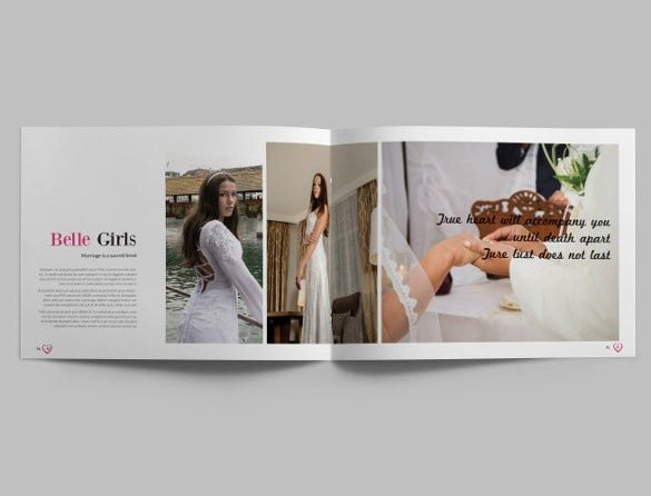 beautiful wedding album template for download