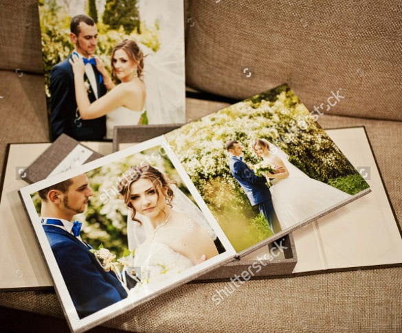 professional wedding album template for download
