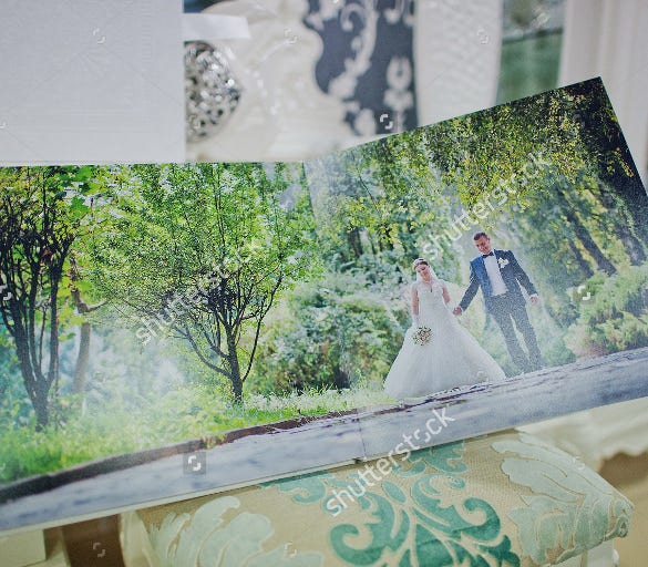 thematic wedding album template download