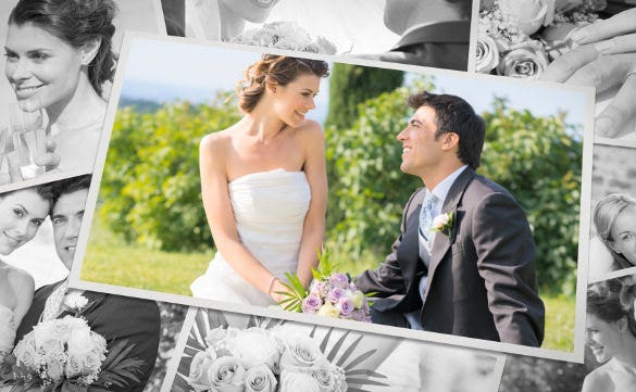 attractive wedding album template for download