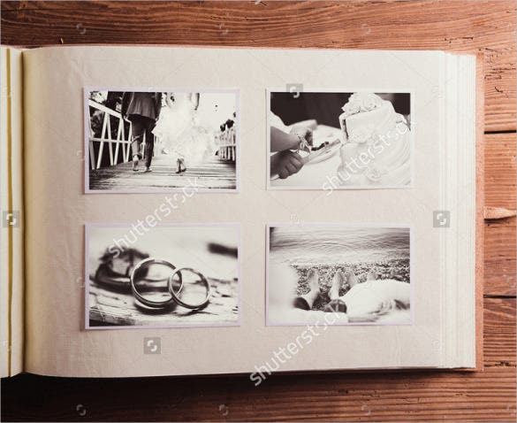 vintage wedding album template for download