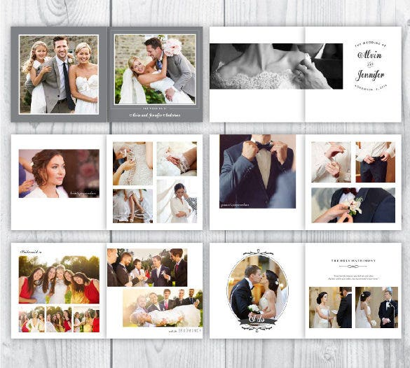 personal wedding album template for download