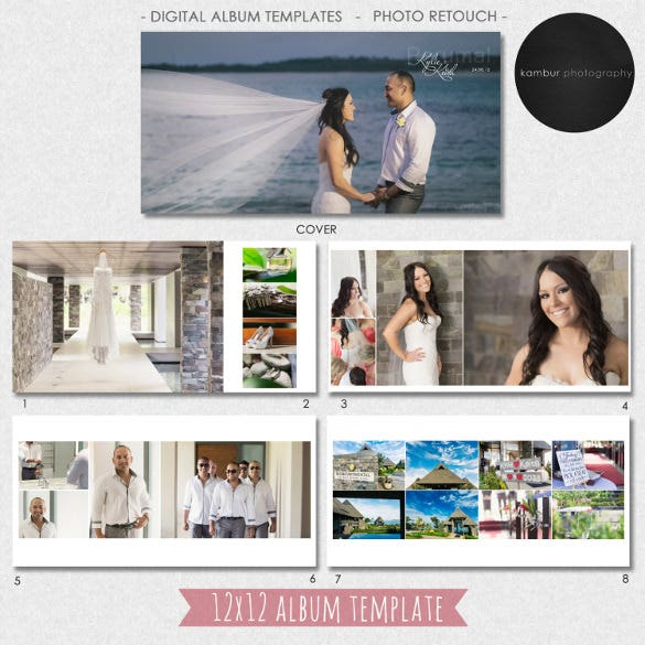 40 Pages Wedding Album Template Download  Free Album Templates