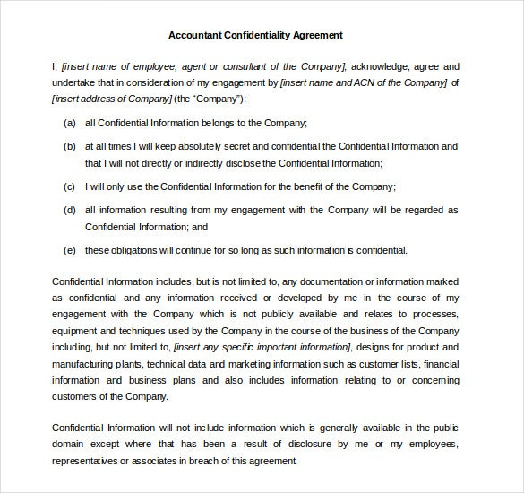35  word confidentiality agreement templates free download