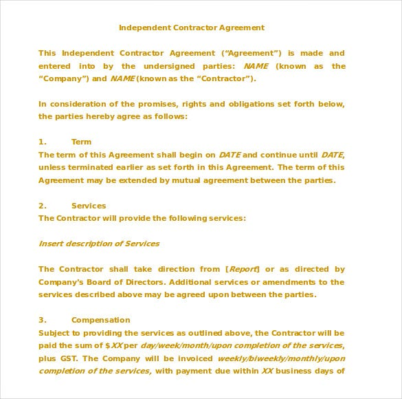 Doc580826 Mutual Agreement Contract Sample Mutual Agreement – Mutual Agreement Template