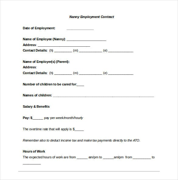 nanny confidentiality agreement