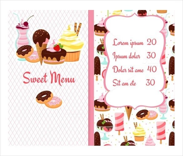 Sample Bakery Menu Template Bar Menu Card Sample Bar Menu Card