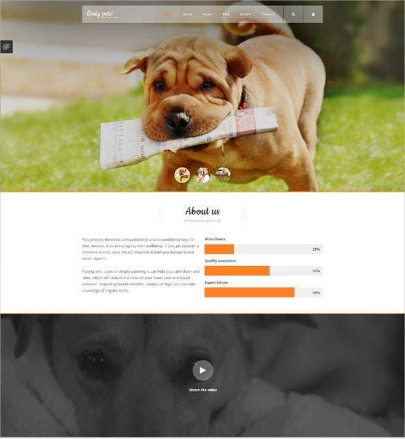 home living animals pets joomla template