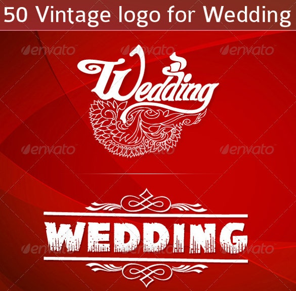 50 vintage wedding logos for download