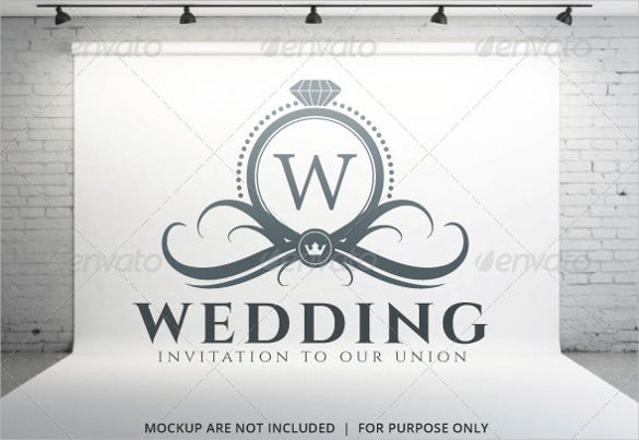 vintage wedding logo template for download