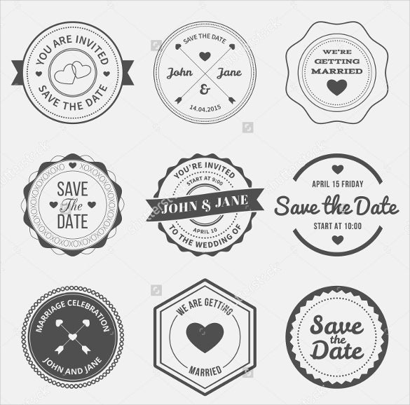 collection of wedding logo designs for download