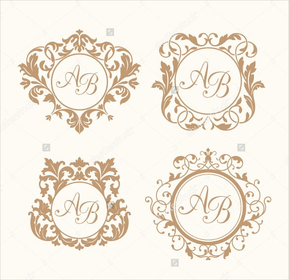 set of wedding logo templates for download