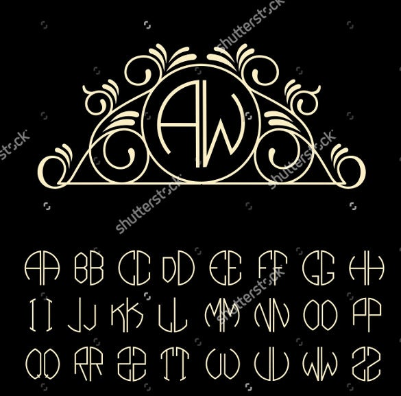black background wedding logo template for download