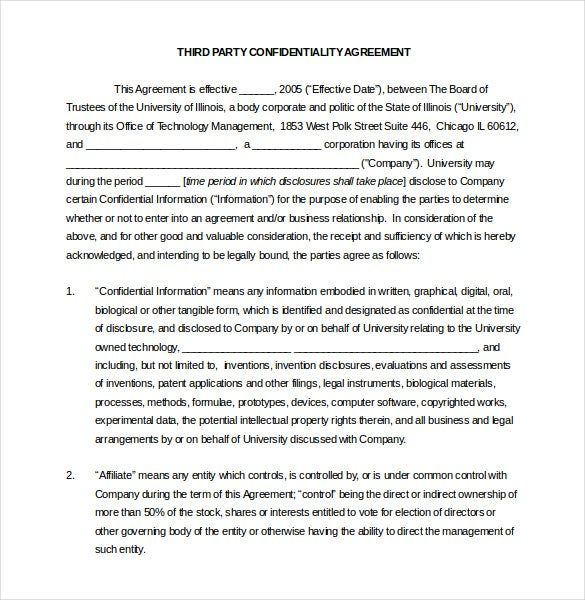 32 word confidentiality agreement templates free download