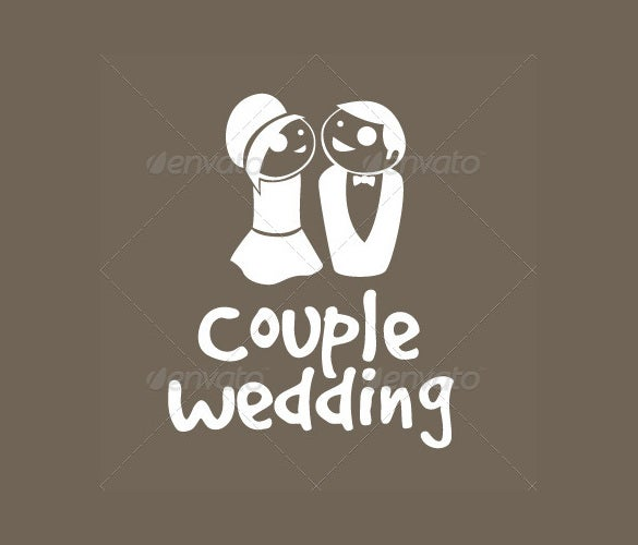 couple wedding logo template for download