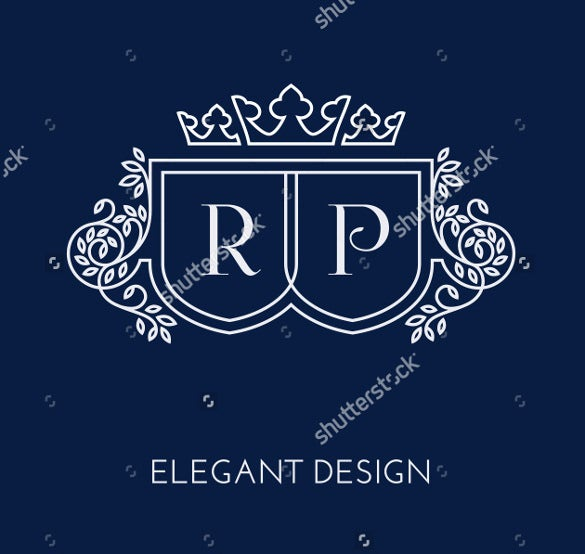 dark background wedding logo template for download