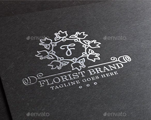 floral wedding logo template for download