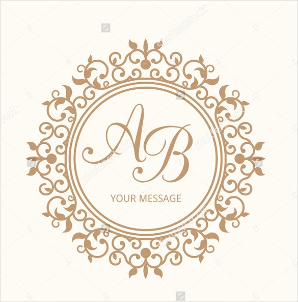 simple wedding logo template for download