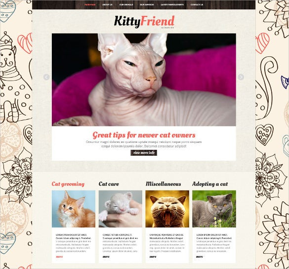 animal pets joomla blog template