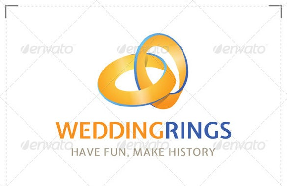rings wedding logo template for download