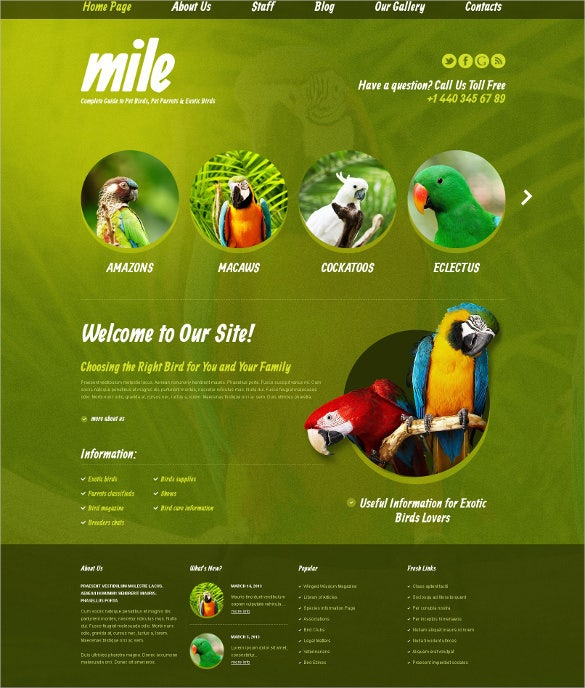 exotic animal pet blog wordpress theme