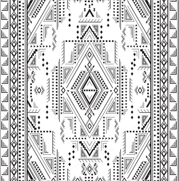indian design tribal pattern
