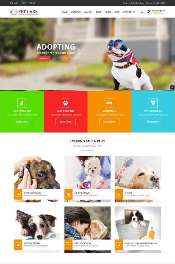 animal petcare wordpress blog theme