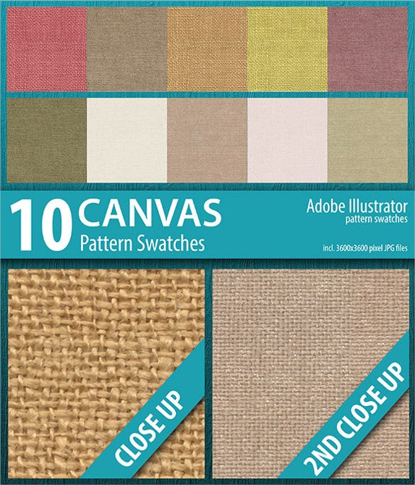 10 canvas texture swatche download