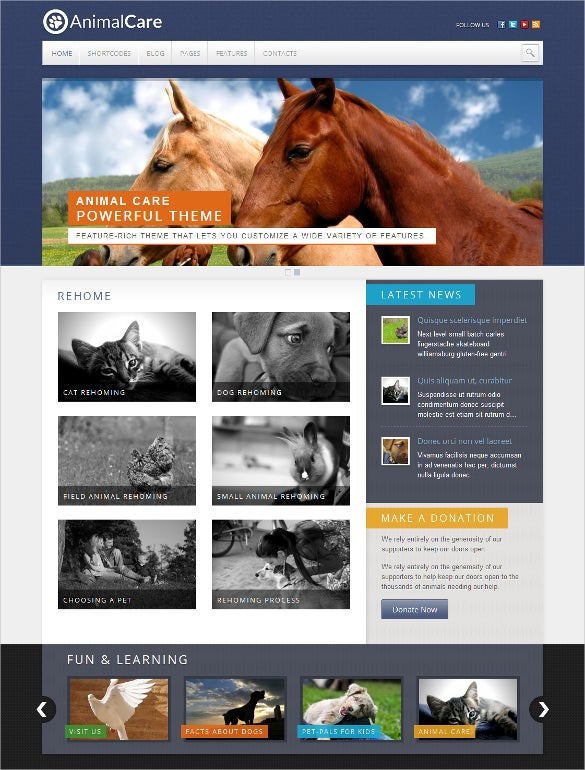 animal pet care premium wordpress blog theme