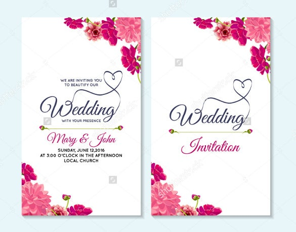 wedding card word template