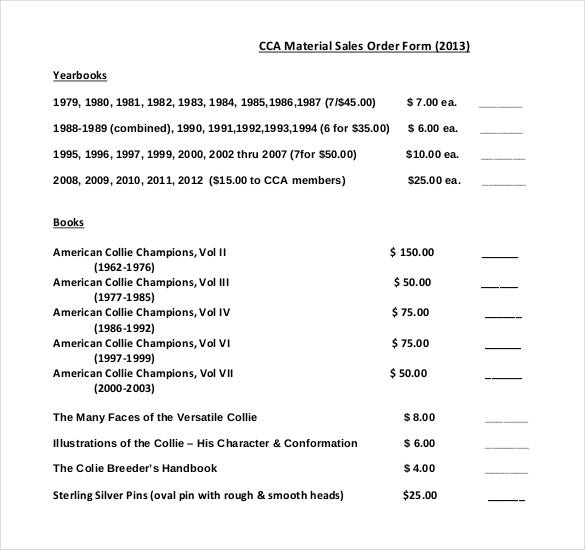 academic study materials sales order form download