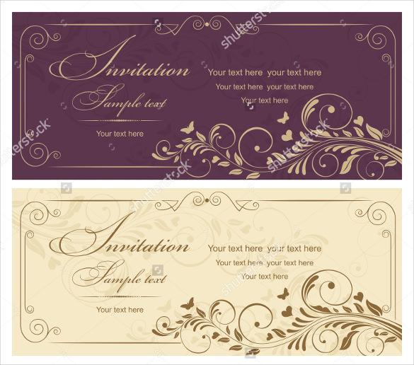 Wedding card template printable