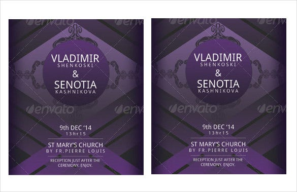 print ready wedding invitation template for download